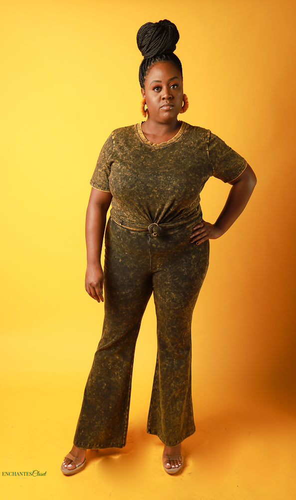Bodak Mineral Pants Set - EnChantes Closet Plus Size Boutique