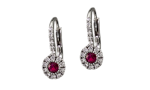 ruby earrings pittsburgh jeweler