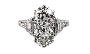 Platinum and diamond ring, circa, 1920