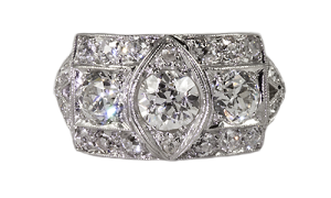 Platinum and diamond ring,circa,1920