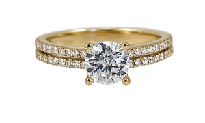 639351-stacked-yellow-gold-engagement-ring