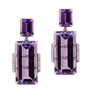 amethyst earrings henne
