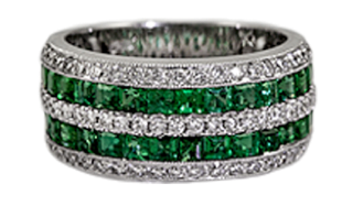 emerald jewelry ring pittsburgh