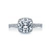 Tacori Platinum Dantela Collection Diamond Halo Semi-Mount Engagement Ring (Setting Only)