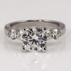 Precision Set Flush Fit 4-Prong Semi-Mount Diamond Ring, Shared Prong, 0.60ct (Setting Only)