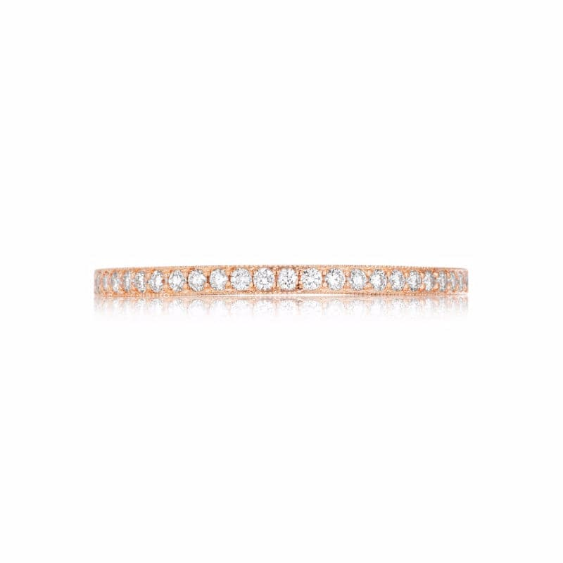 18K Rose Gold 2mm .17ct Diamond Shared Prong Wedding Band