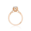 18 Karat Rose Gold Tacori Dantela Collection Semi-Mount Diamond Accent Ring (Setting Only)