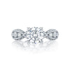 Tacori Platinum Classic Crescent Collection 'Ribbon Twist' Semi-Mount Ring (Setting Only)