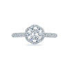 Tacori Platinum Petite Crescent Semi-Mount Diamond Halo Ring (Setting Only)