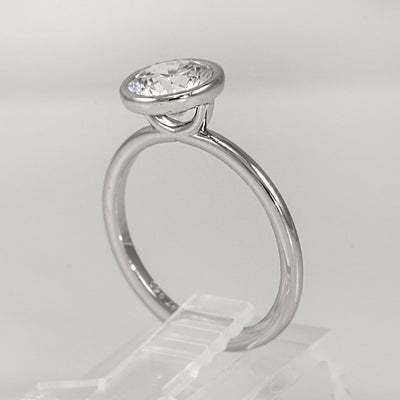 Mark Patterson Platinum Solitaire Bezel Semi-Mount Engagement Ring (Setting Only)