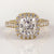 18K Yellow Gold Henne Fit Cushion Brilliant Cut Diamond Halo Engagement Ring