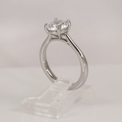 Precision Set Platinum New Aire 4-Prong Solitaire Semi-Mount Ring (Setting Only)