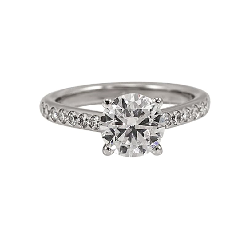 Platinum Mark Patterson Semi-Mount Diamond Accent Engagement Ring (Setting)