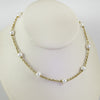 18K Yellow Gold Cultured Pearl Necklace, 16 Inches