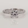 Precision Set 18K White Gold Bead-Set Round Brilliant Diamond Semi-Mount Ring, 0.29ct (Setting Only)