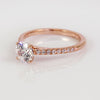 Mark Patterson 18K Rose Gold Bead-Set Diamond Semi-Mount Engagement Ring (Setting Only)
