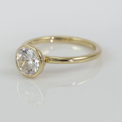 Mark Patterson 18K Yellow Gold Solitaire Bezel Mounting