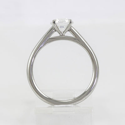 Mark Patterson Platinum 4-Prong Solitaire Semi-Mount Engagement Ring (Setting Only)