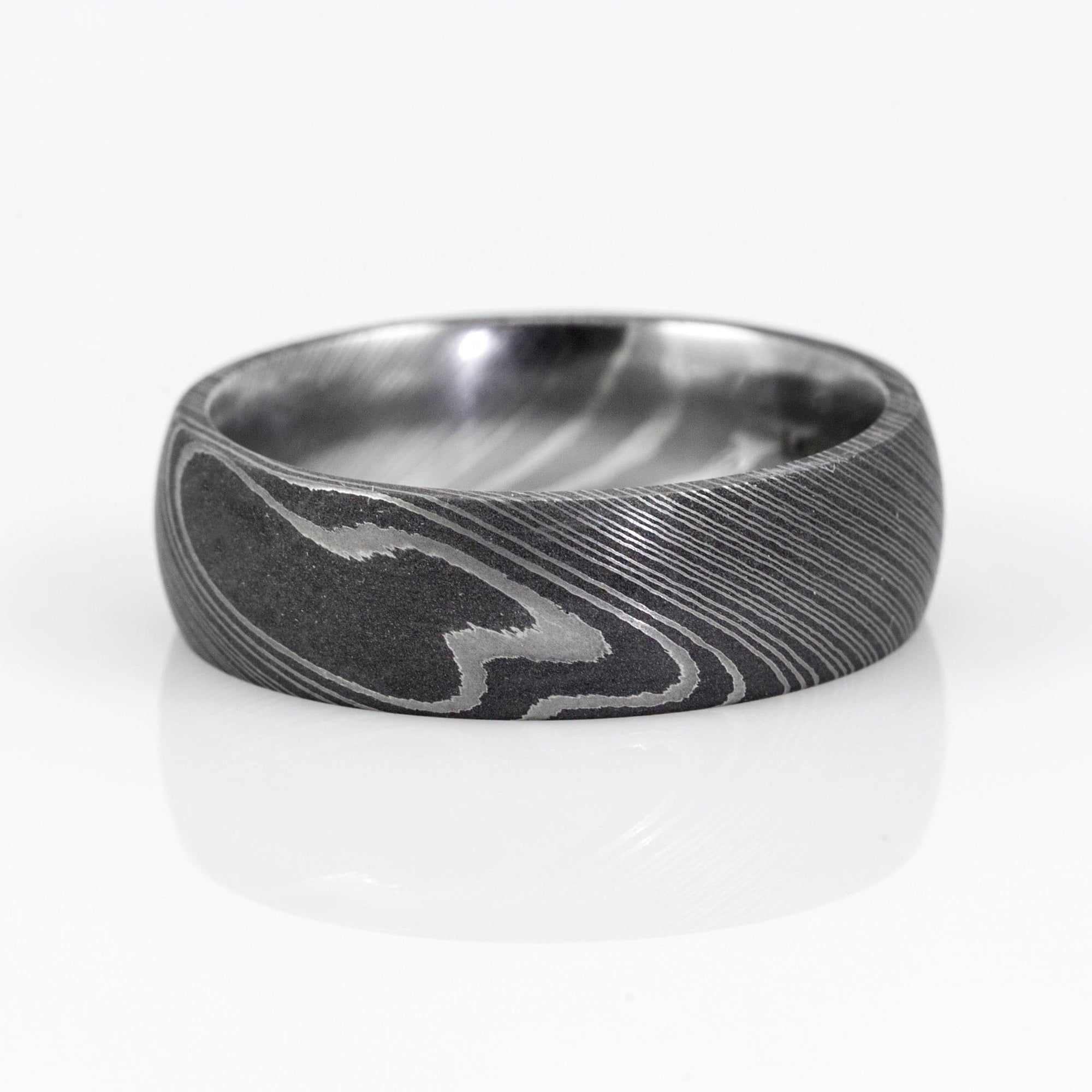 Lashbrook Designs Acid Swirl Damascus Steel 7MM Wedding Band