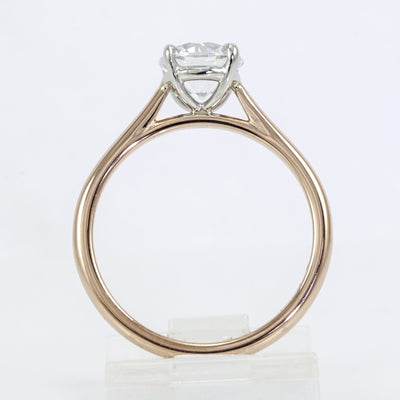 Precision Set 18K Rose Gold New Aire Semi-Mount Solitaire Engagement Ring (Setting Only)