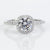 Precision Set 18K White Gold Cushion Diamond Halo Semi-Mount Engagement Ring (Setting Only)