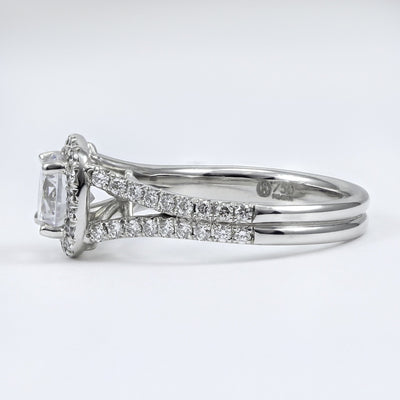 18K White Gold Diamond Engagement Ring (Setting Only)
