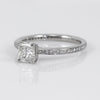 Platinum Princess-Cut Diamond Engagement Ring With Round Brilliant Diamond Setting