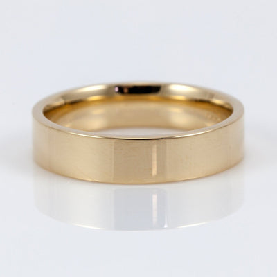Polished 14K Yellow Gold 5mm Flat Men's Wedding Band