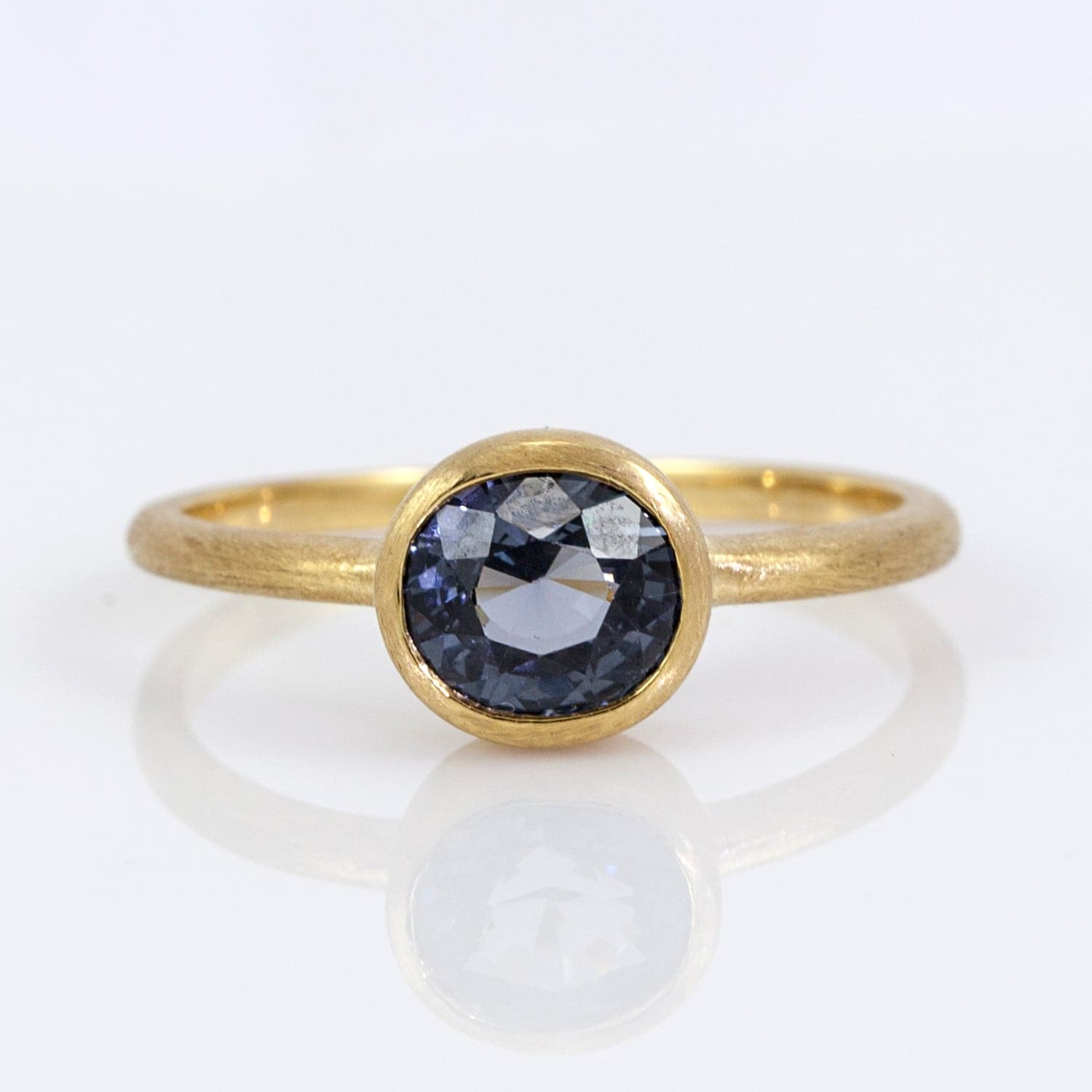 Nina 18K Yellow Gold Blue Spinel Ring