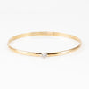 Jon Anderson 14K Yellow Gold Bangle Bracelet With Bezel-Set Diamond
