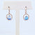 Mark Patterson 18K Rose Gold Celeste Oval Moonstone and Diamond Dangle Earrings