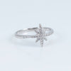A*Men sterling silver white zirconia Southern Cross ring