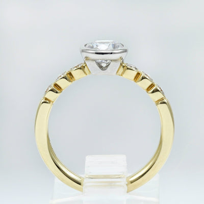18K Yellow Gold Diamond Engagement Ring (Setting Only)