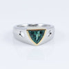 Henne Exclusive 18K White and Yellow Gold Shield-Cut Tourmaline Ring