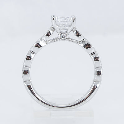 14K White Gold Diamond Engagement Ring (Setting only)