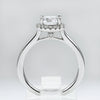 14K White Gold Diamond Halo Engagement Ring (Setting Only)