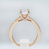 Fana 14K Rose Gold Split Shoulder Diamond Engagement Ring (Setting Only)