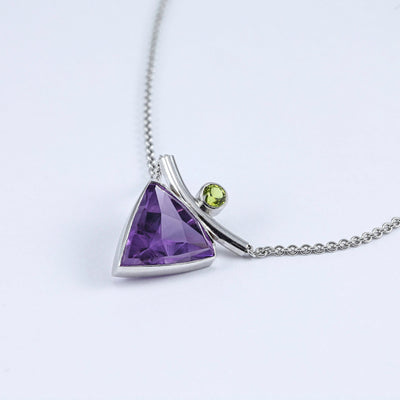 "Jon Anderson 14kt white gold ""pyramid-of-purple"" amethyst pendant"