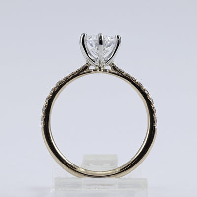 18K Rose Gold Diamond Engagement Ring (Setting Only)