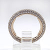 18K Rose Gold Micro-Pave Diamond Band