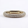 18K Yellow Gold Micro-Pave Diamond Band