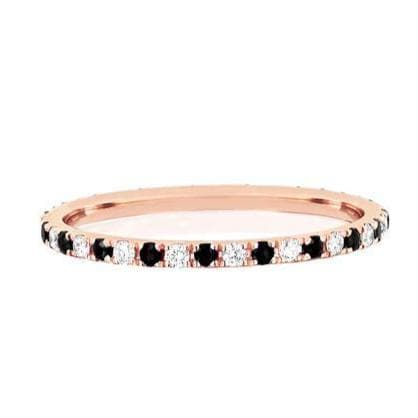 EF Collection 14K Rose Gold Dot Eternity Band