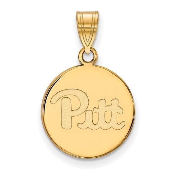 Yellow Gold Plated Sterling Silver Pitt Disc Charm
