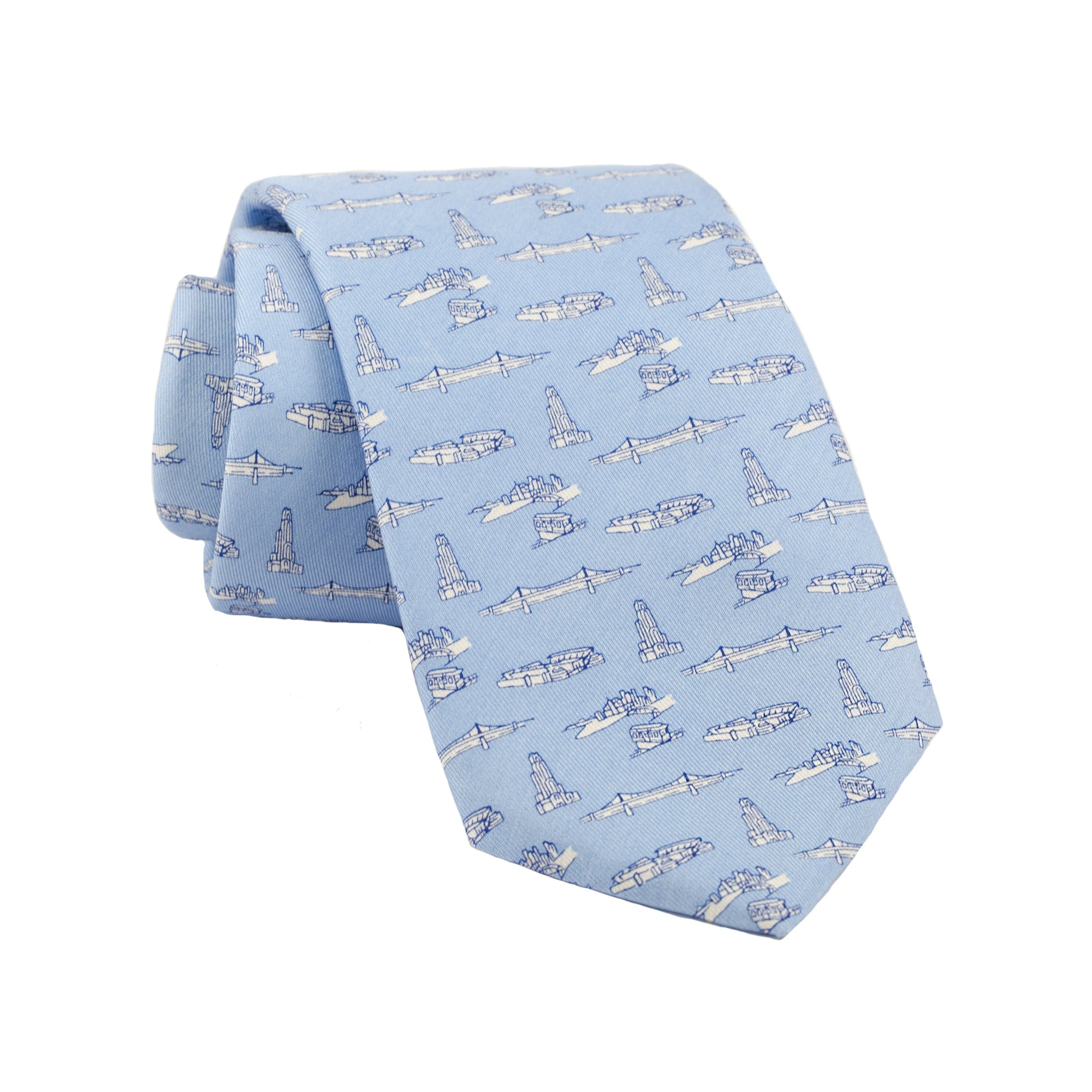 Men's Light Blue Pittsburgh-Theme Tie by Vineyard Vines