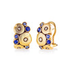 Alex Sepkus 18K Yellow Gold Sapphire Orchard Leverback Earrings