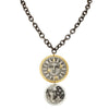 Evocateur Bronze With 22K Yellow Gold and Sterling Silver Sun & Moon 30-Inch Necklace
