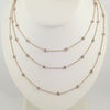 18K Rose Gold Diamond-by-the-Yard Bezel Chain, 65in