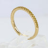 18K Yellow Gold Natural Fancy Yellow Pave Diamond Wedding Band