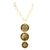 Evocateur Bronze With 22K Yellow Gold Overlay 24-Inch 3-Disc Pendant Necklace