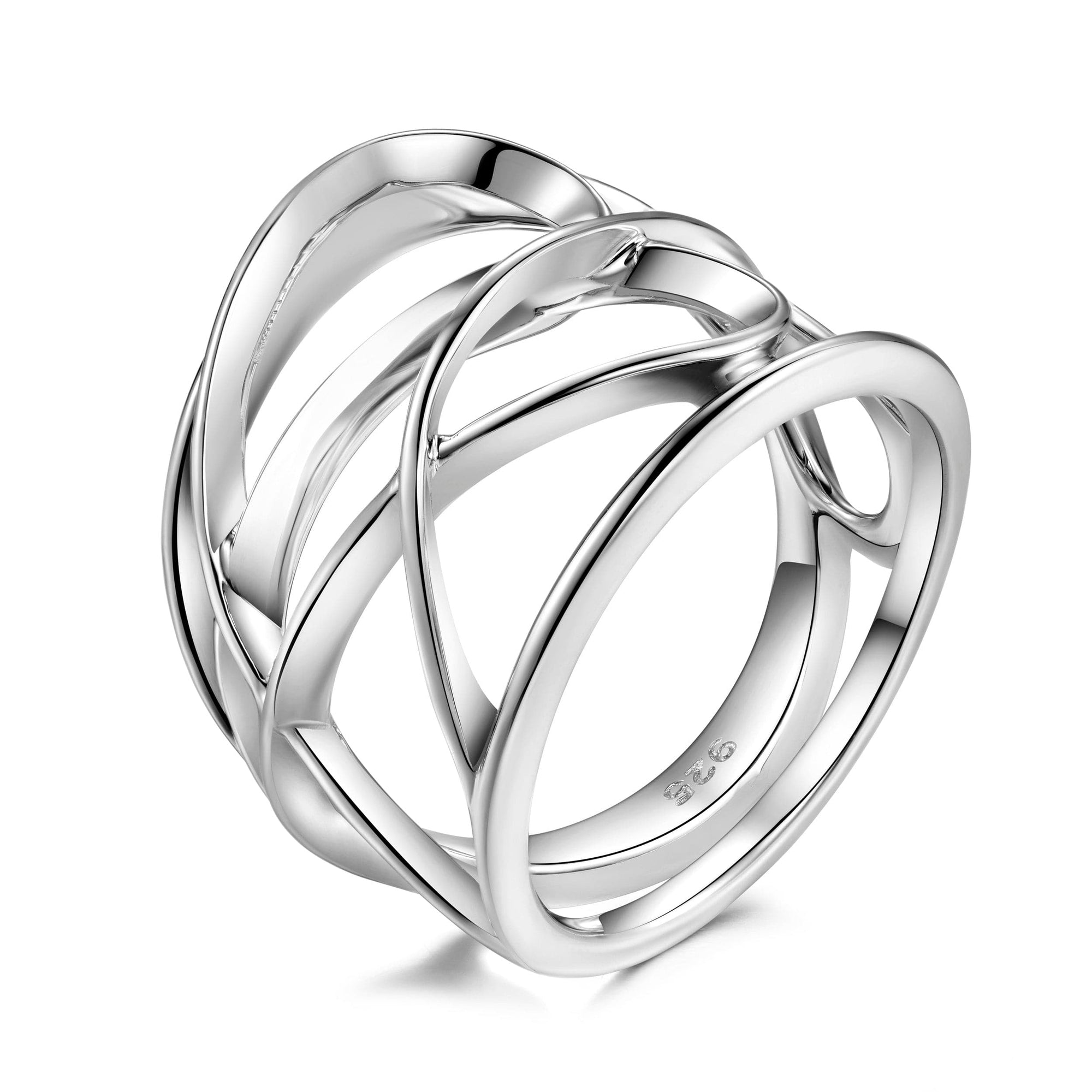 Pianegonda Sterling Silver Scripta Ring